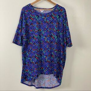 Lularoe XL tunic length top in floral pattern